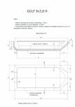 Schita excavatie piscina Golf 9X3,8  R SKYMIRROR -