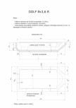 Schita excavatie piscina Golf 8X3,6  R SKYMIRROR -