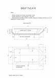 Schita excavatie piscina Golf 7X3,4  R SKYMIRROR -