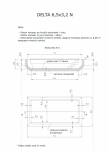 Schita excavatie piscina Delta 6,5 X3.2 N SKYMIRROR -