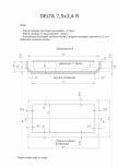 Schita excavatie piscina Delta 7,5 X3,4 R SKYMIRROR -