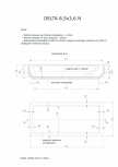 Schita excavatie piscina Delta 8,5 X3,6 N SKYMIRROR -