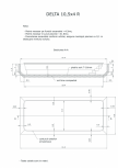 Schita excavatie piscina Delta 10,5 X4 R SKYMIRROR -