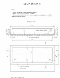 Schita excavatie piscina Delta 10,5 X4 R