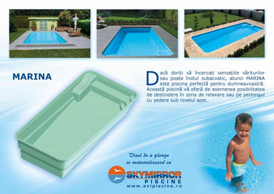 Pagina 5 - Catalog 2018 piscine rezidentiale SKYMIRROR SKYMIRROR GOLF, MARINA, LAGUNA, DELTA Catalog...