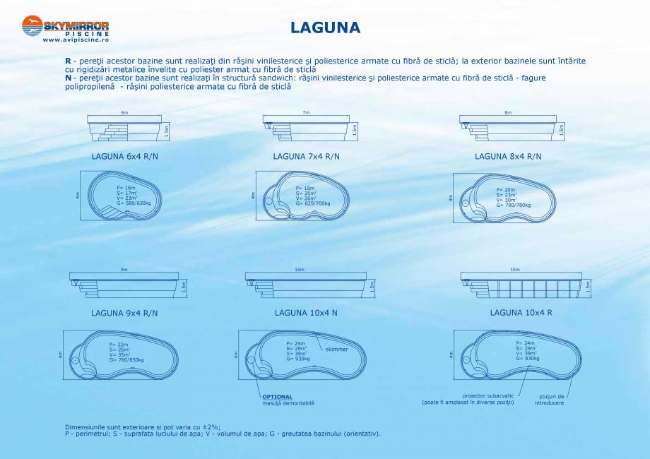 Pagina 6 - Catalog 2018 piscine rezidentiale SKYMIRROR SKYMIRROR GOLF, MARINA, LAGUNA, DELTA Catalog...