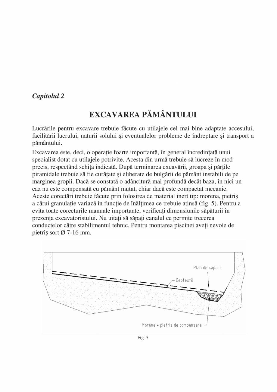 Pagina 6 - Manual de instalare si intretinere piscine SKYMIRROR GOLF, MARINA, LAGUNA, DELTA...