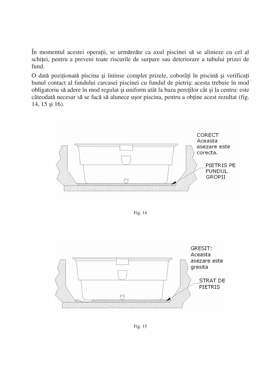 Pagina 14 - Manual de instalare si intretinere piscine SKYMIRROR GOLF, MARINA, LAGUNA, DELTA...