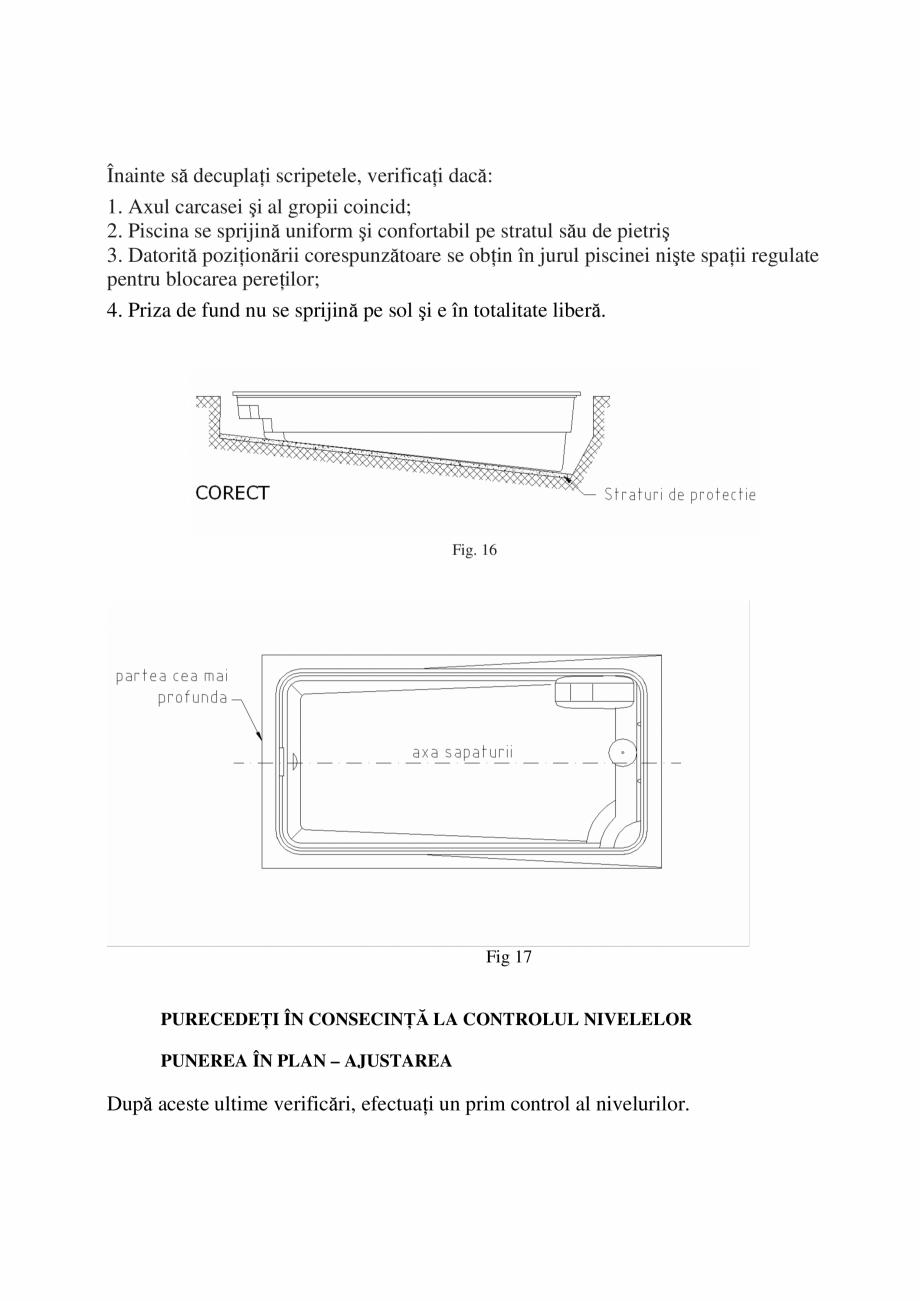 Pagina 15 - Manual de instalare si intretinere piscine SKYMIRROR GOLF, MARINA, LAGUNA, DELTA...