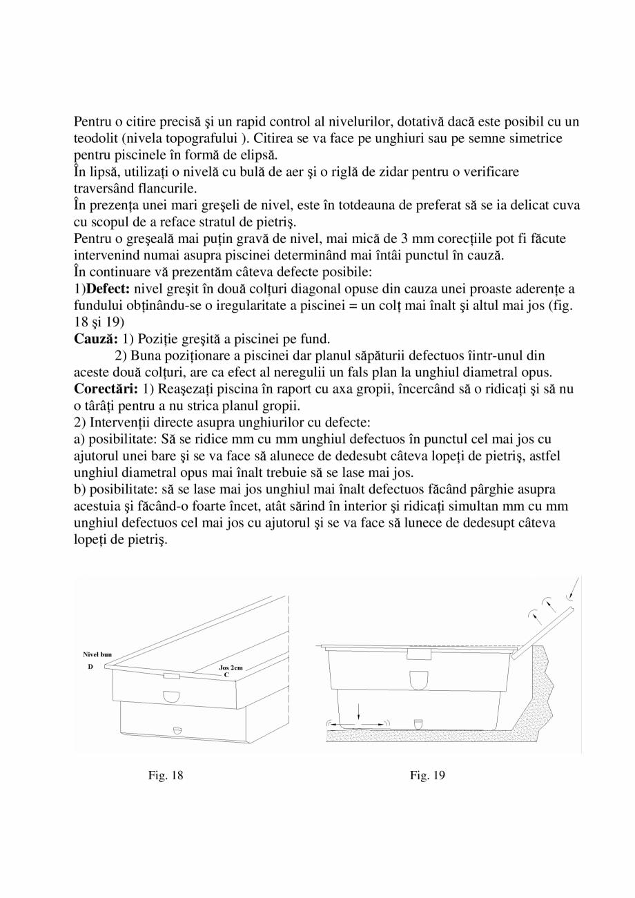 Pagina 16 - Manual de instalare si intretinere piscine SKYMIRROR GOLF, MARINA, LAGUNA, DELTA...