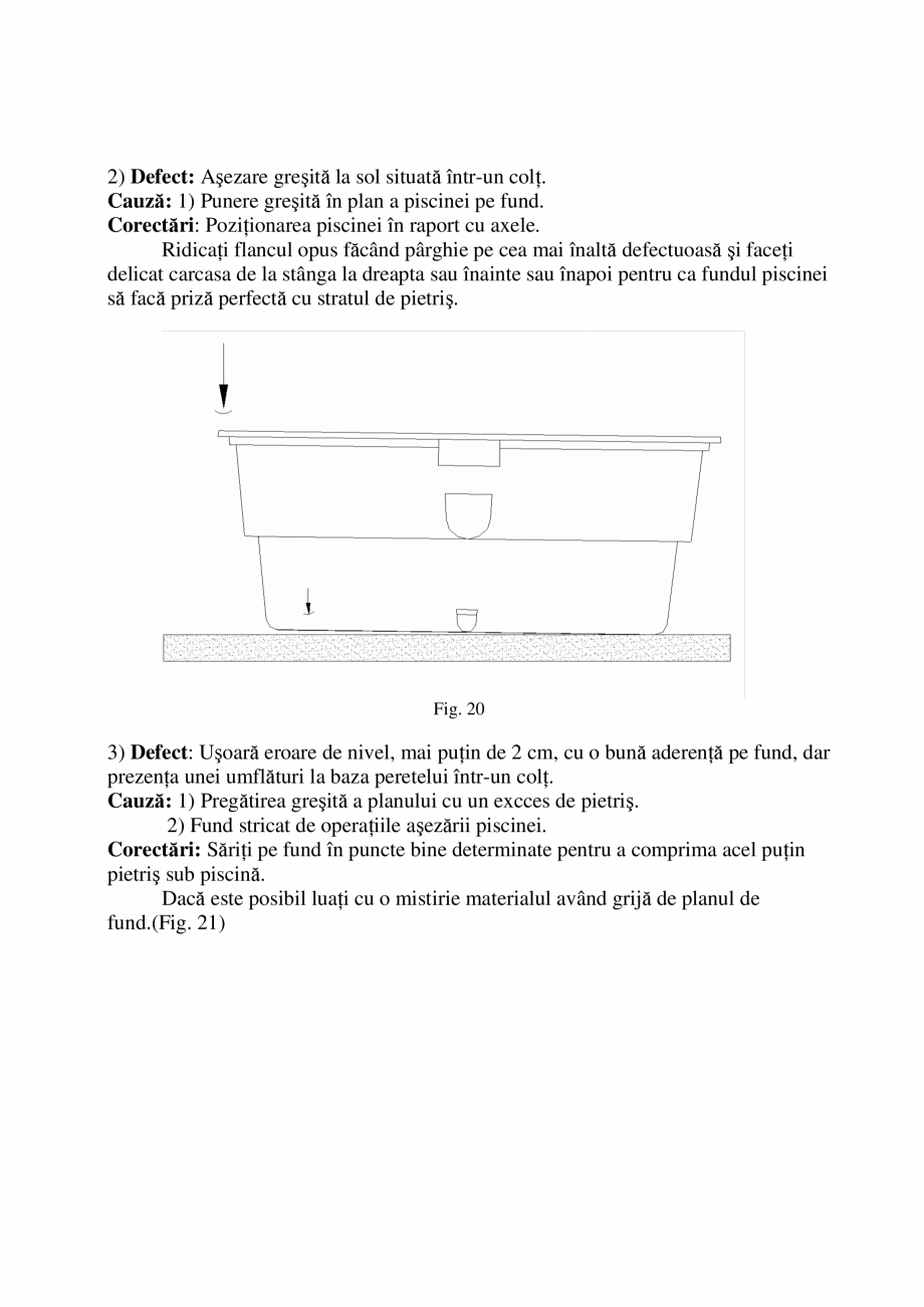 Pagina 17 - Manual de instalare si intretinere piscine SKYMIRROR GOLF, MARINA, LAGUNA, DELTA...