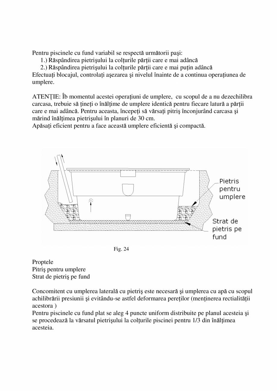 Pagina 20 - Manual de instalare si intretinere piscine SKYMIRROR GOLF, MARINA, LAGUNA, DELTA...
