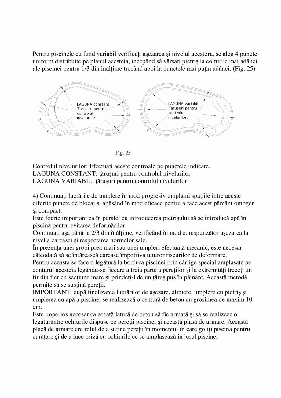 Pagina 21 - Manual de instalare si intretinere piscine SKYMIRROR GOLF, MARINA, LAGUNA, DELTA...