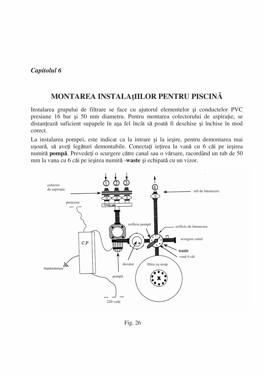 Pagina 23 - Manual de instalare si intretinere piscine SKYMIRROR GOLF, MARINA, LAGUNA, DELTA...