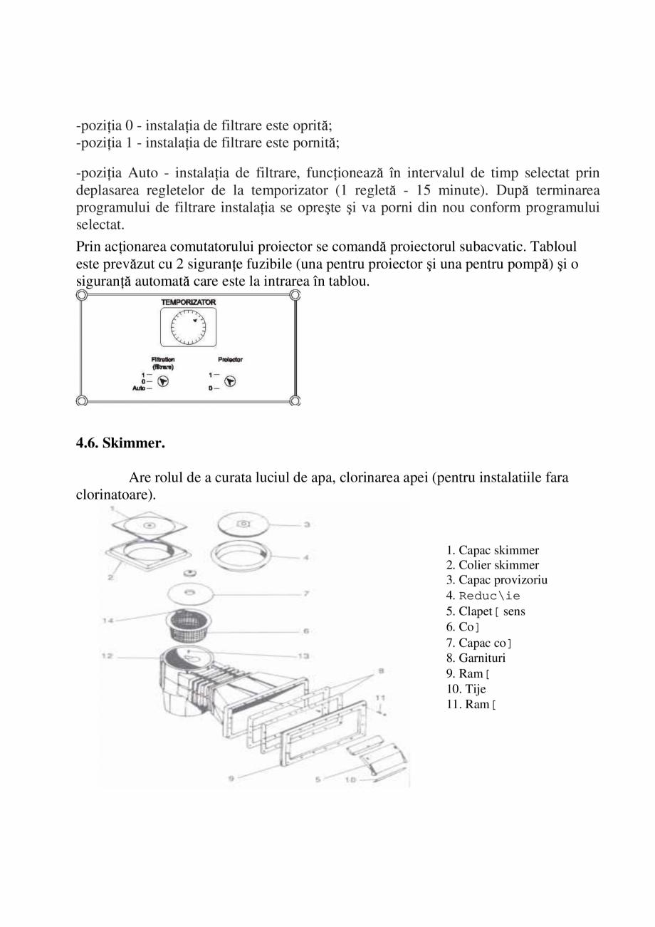 Pagina 32 - Manual de instalare si intretinere piscine SKYMIRROR GOLF, MARINA, LAGUNA, DELTA...