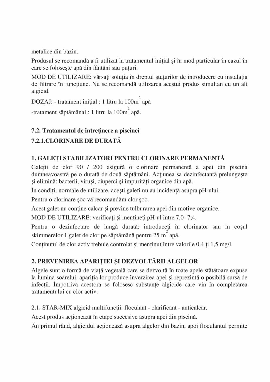 Pagina 35 - Manual de instalare si intretinere piscine SKYMIRROR GOLF, MARINA, LAGUNA, DELTA...