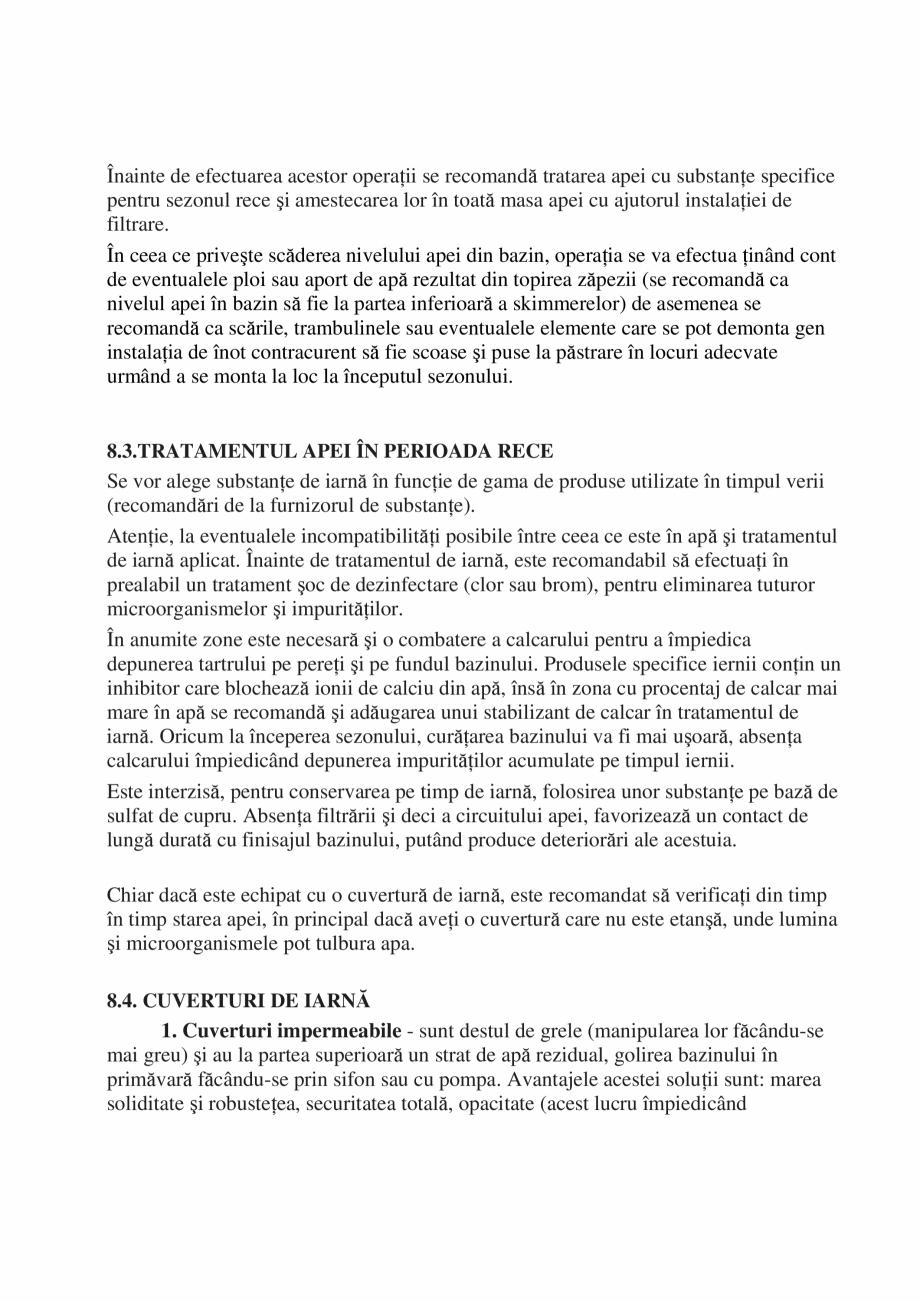 Pagina 39 - Manual de instalare si intretinere piscine SKYMIRROR GOLF, MARINA, LAGUNA, DELTA...