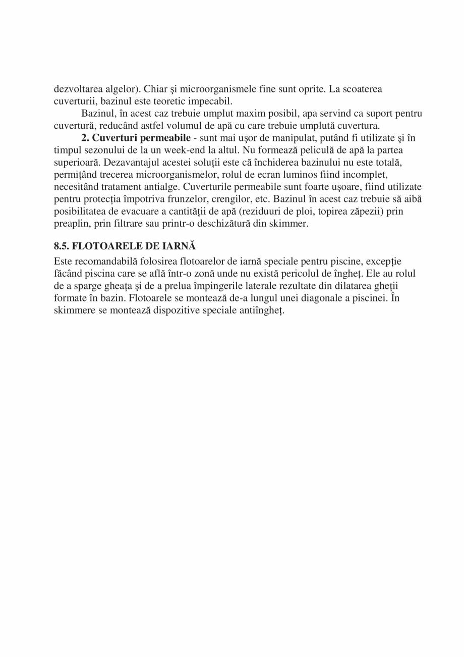 Pagina 40 - Manual de instalare si intretinere piscine SKYMIRROR GOLF, MARINA, LAGUNA, DELTA...