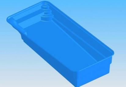 Model Marina - vedere de sus MARINA Piscina rezidentiala din fibra de sticla - imagini 3D
