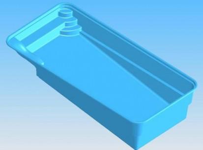 Model Marina - imagine 3D MARINA Piscina rezidentiala din fibra de sticla - imagini 3D