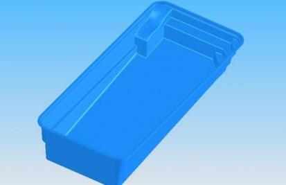 Imagine 3D vedere de sus model Marina MARINA Piscina rezidentiala din fibra de sticla - imagini