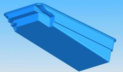 Imagine 3D - piscina Marina MARINA Piscina rezidentiala din fibra de sticla - imagini 3D
