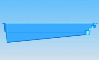Piscina Marina - vazuta din lateral MARINA Piscina rezidentiala din fibra de sticla - imagini 3D