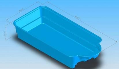 Imagine 3D - model Golf GOLF Piscina rezidentiala din fibra de sticla - imagini 3D