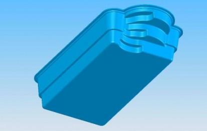 Model 3D vazut de jos GOLF Piscina rezidentiala din fibra de sticla - imagini 3D