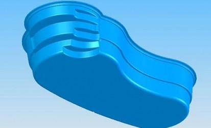 Model Laguna vazut de jos LAGUNA Piscina rezidentiala din fibra de sticla - imagini 3D