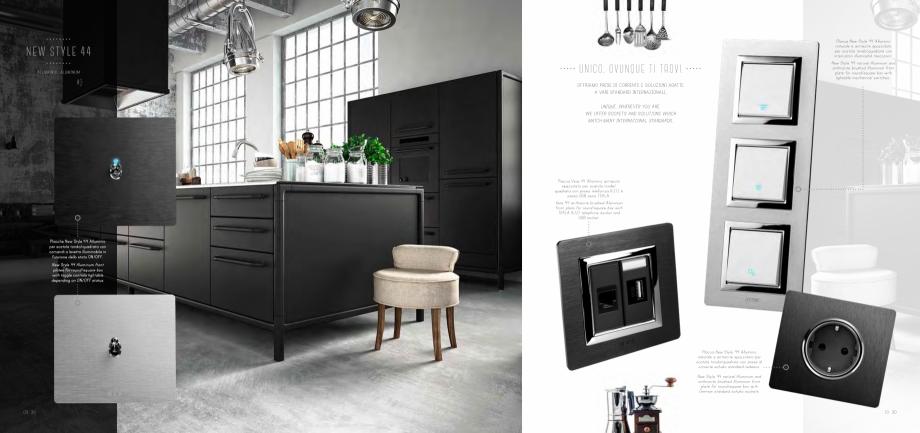 Pagina 6 - Catalog AVE New Style 44  Catalog, brosura Engleza  front plate with TEKLA grey combined ...
