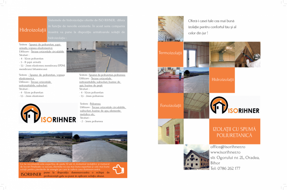 Pagina 1 - Izolatii cu spuma poliuretanica ISORIHNER Catalog, brosura Romana Sistemele de...