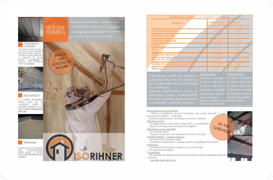 Pagina 2 - Izolatii cu spuma poliuretanica ISORIHNER Catalog, brosura Romana c. Straturi : - 2 - 5mm...