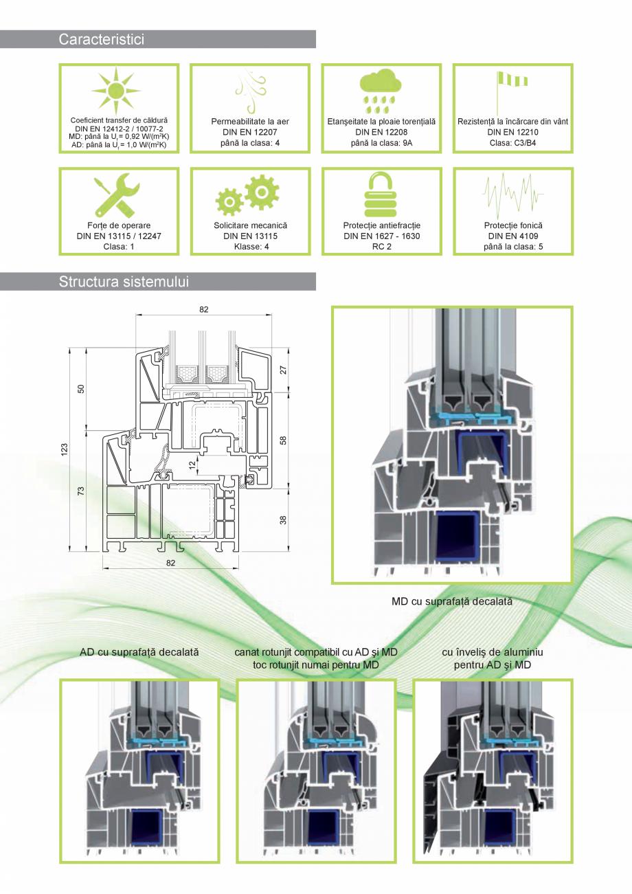 Pagina 3 - Sistem de tamplarie PVC CRIOS bluEvolution 82 Fisa tehnica Engleza ră la fabricarea...