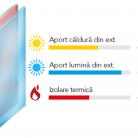 Sticla dubla tip SOLAR - Sistem de tamplarie PVC - bluEvolution 73