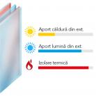 Sticla tripla cu LOW-E si SOLAR - Sistem de tamplarie PVC - bluEvolution 82 Plus