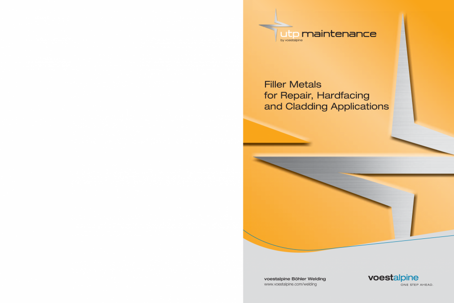 Pagina 1 - Solutii complete (materiale de adaos) pentru mentenanta si reparatii TEHNIC GAZ WELDING...