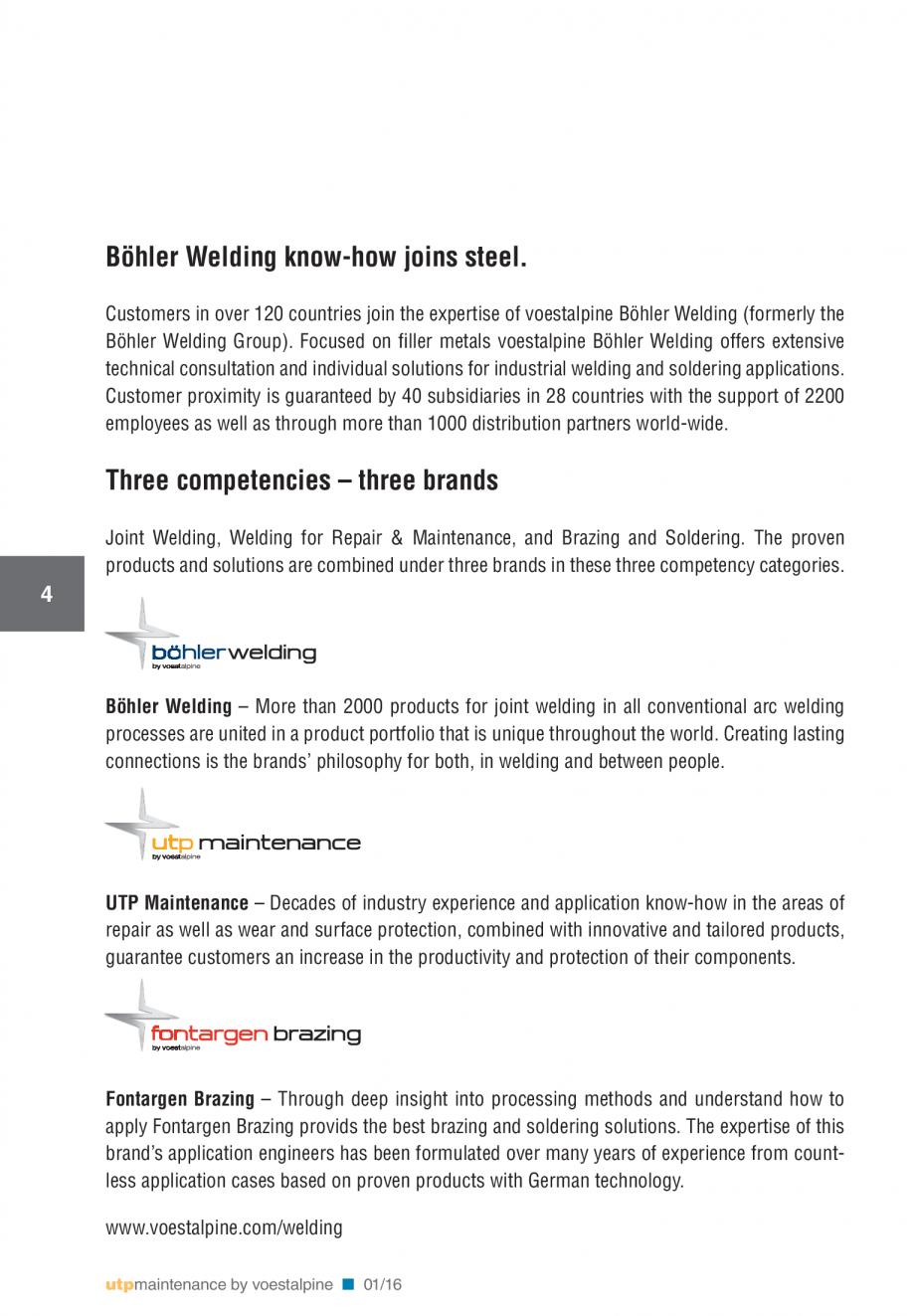 Pagina 6 - Solutii complete (materiale de adaos) pentru mentenanta si reparatii TEHNIC GAZ WELDING...