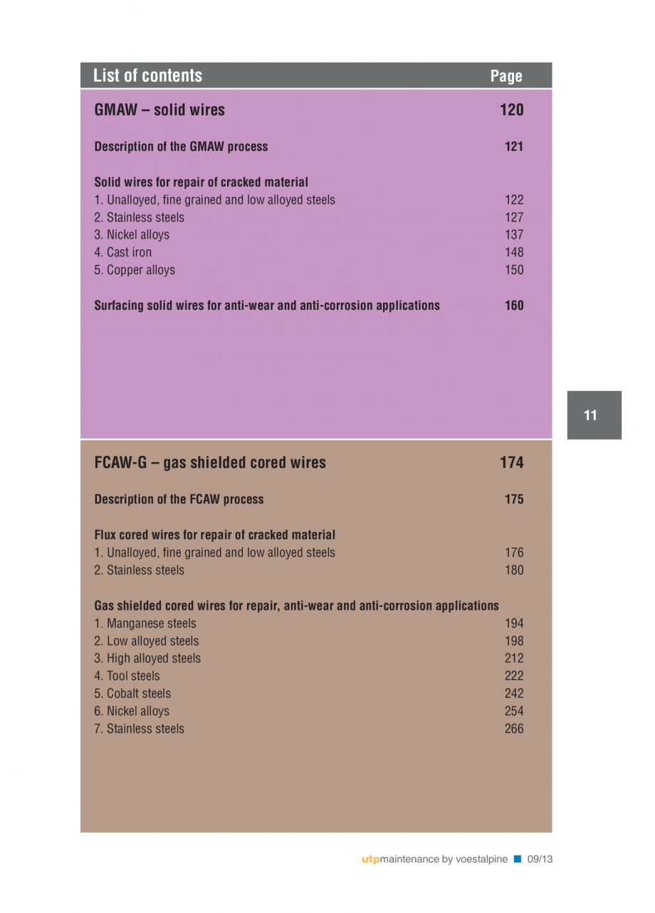 Pagina 13 - Solutii complete (materiale de adaos) pentru mentenanta si reparatii TEHNIC GAZ WELDING ...