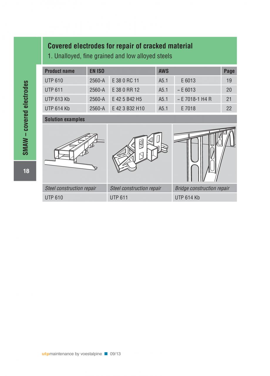 Pagina 20 - Solutii complete (materiale de adaos) pentru mentenanta si reparatii TEHNIC GAZ WELDING ...
