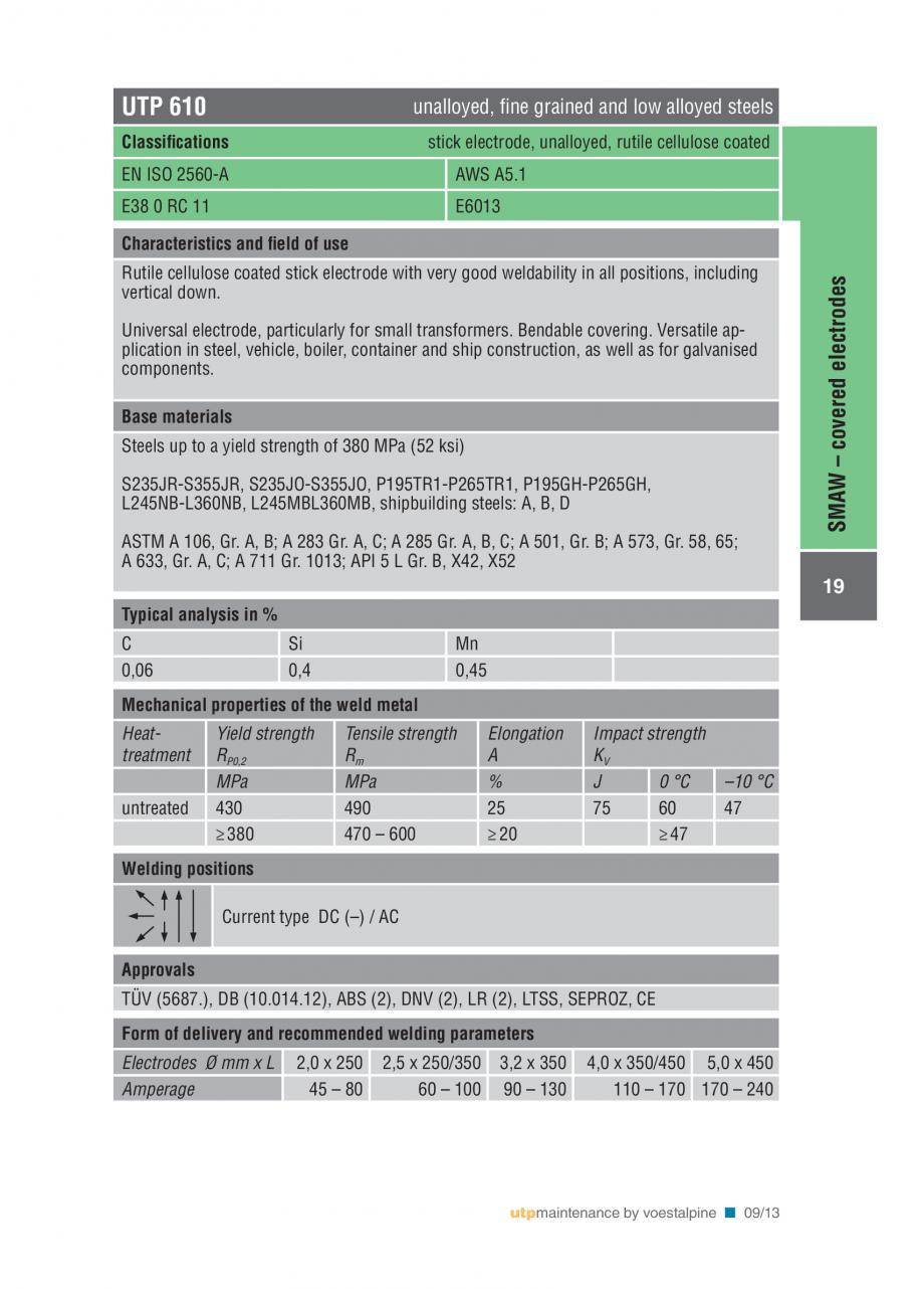 Pagina 21 - Solutii complete (materiale de adaos) pentru mentenanta si reparatii TEHNIC GAZ WELDING ...