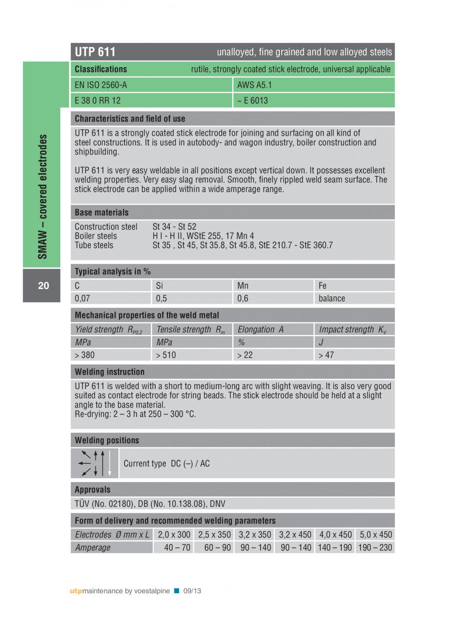 Pagina 22 - Solutii complete (materiale de adaos) pentru mentenanta si reparatii TEHNIC GAZ WELDING ...
