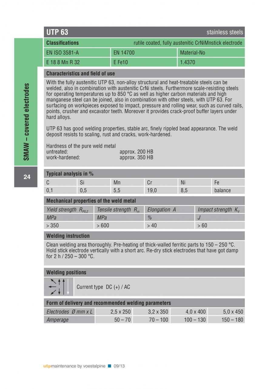 Pagina 26 - Solutii complete (materiale de adaos) pentru mentenanta si reparatii TEHNIC GAZ WELDING ...