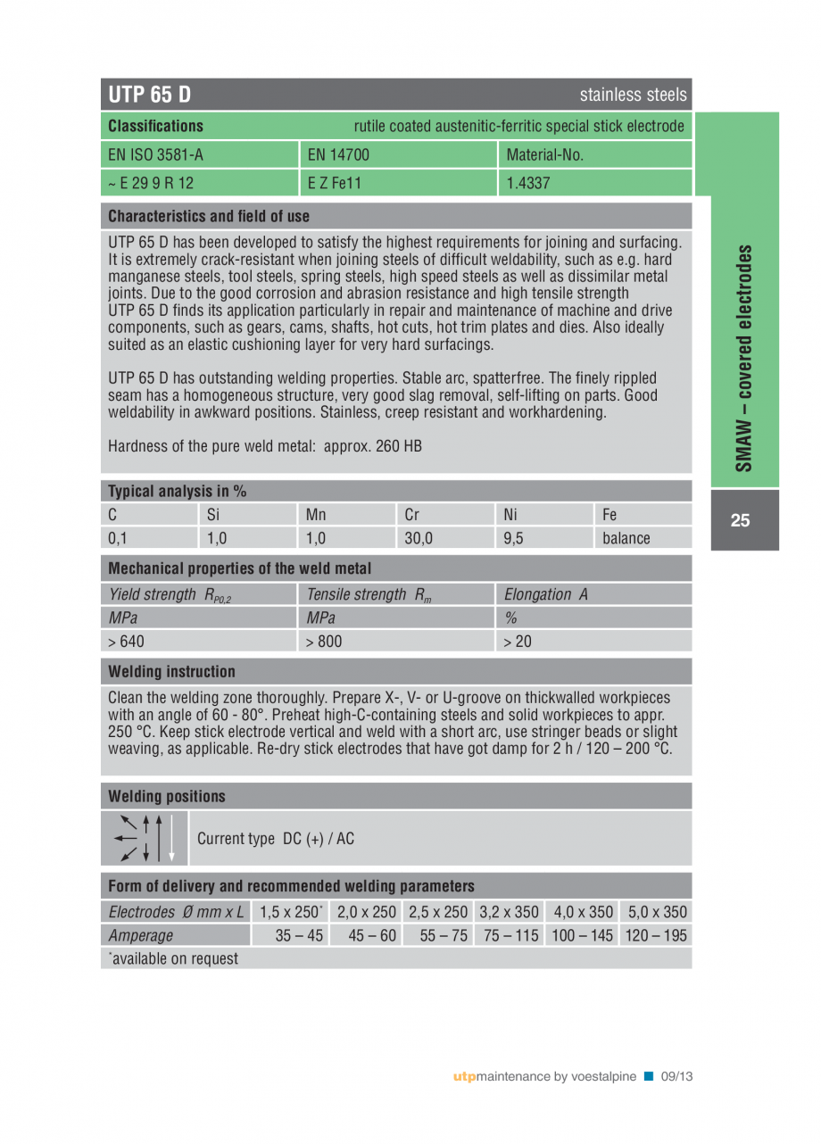 Pagina 27 - Solutii complete (materiale de adaos) pentru mentenanta si reparatii TEHNIC GAZ WELDING ...