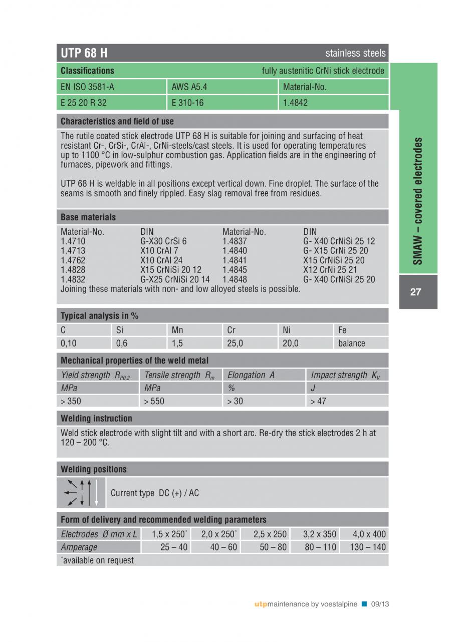 Pagina 29 - Solutii complete (materiale de adaos) pentru mentenanta si reparatii TEHNIC GAZ WELDING ...