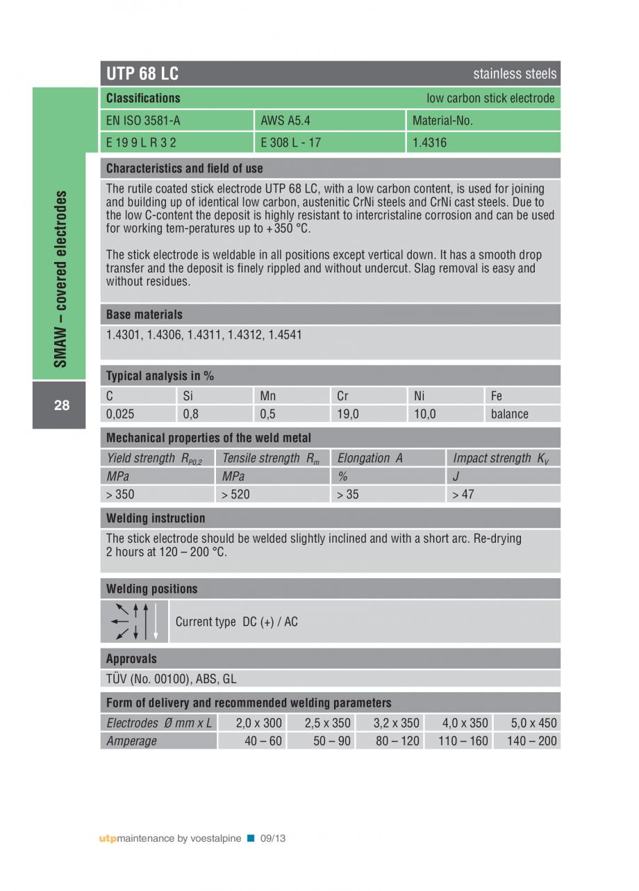 Pagina 30 - Solutii complete (materiale de adaos) pentru mentenanta si reparatii TEHNIC GAZ WELDING ...