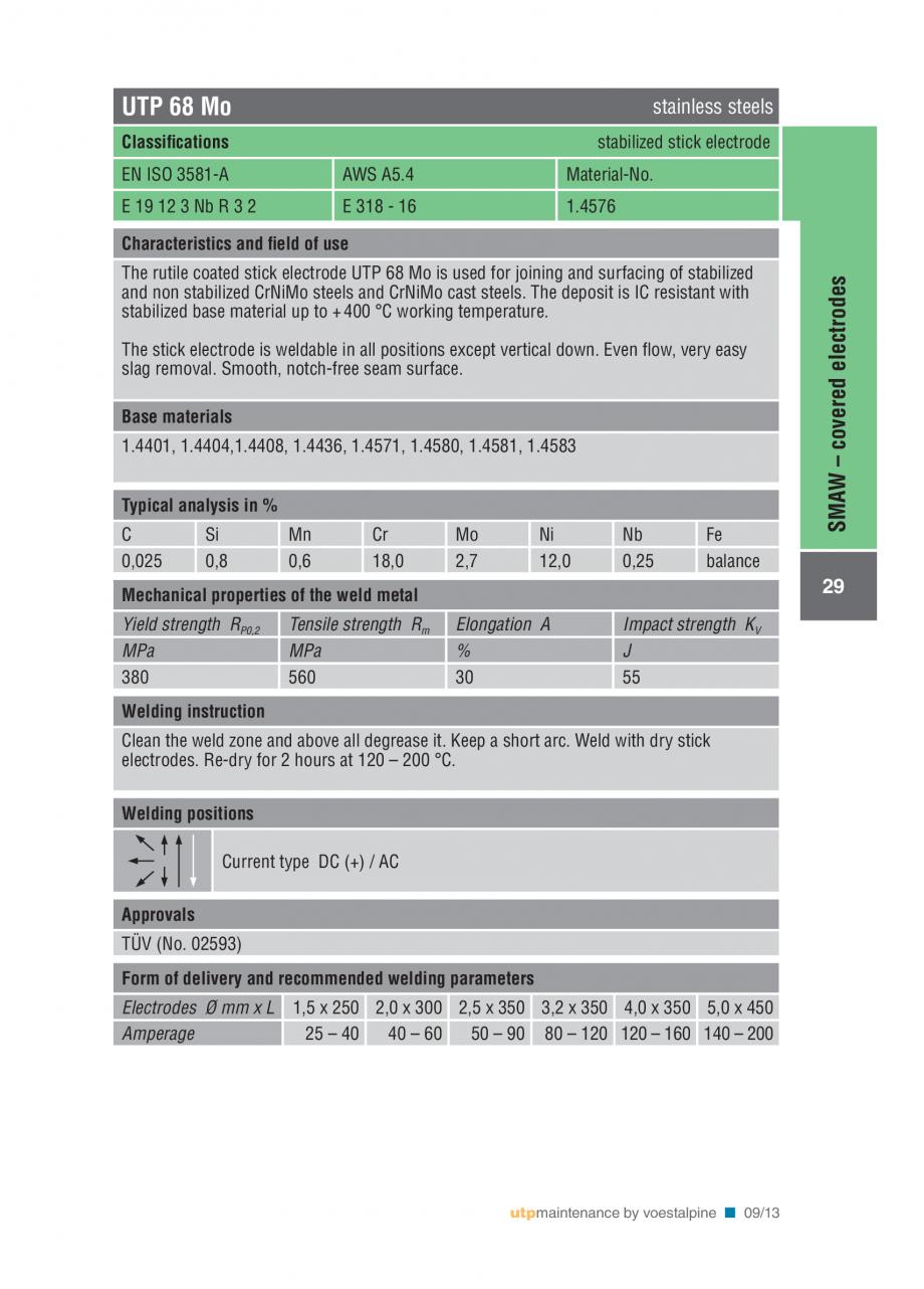Pagina 31 - Solutii complete (materiale de adaos) pentru mentenanta si reparatii TEHNIC GAZ WELDING ...