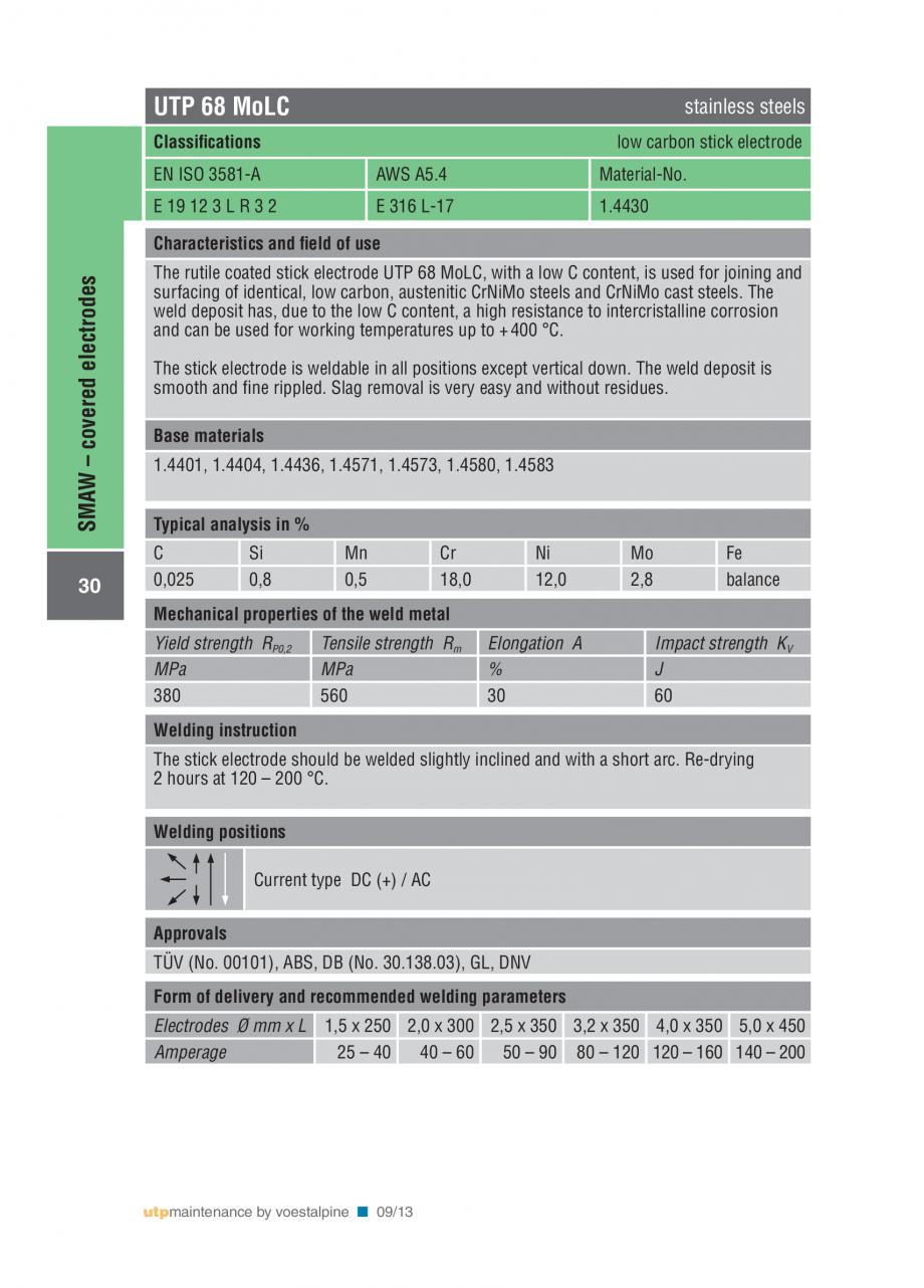 Pagina 32 - Solutii complete (materiale de adaos) pentru mentenanta si reparatii TEHNIC GAZ WELDING ...