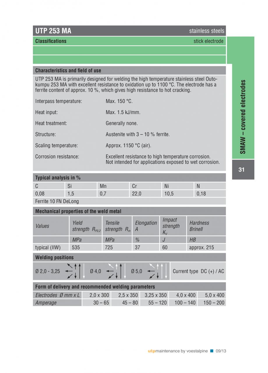 Pagina 33 - Solutii complete (materiale de adaos) pentru mentenanta si reparatii TEHNIC GAZ WELDING ...
