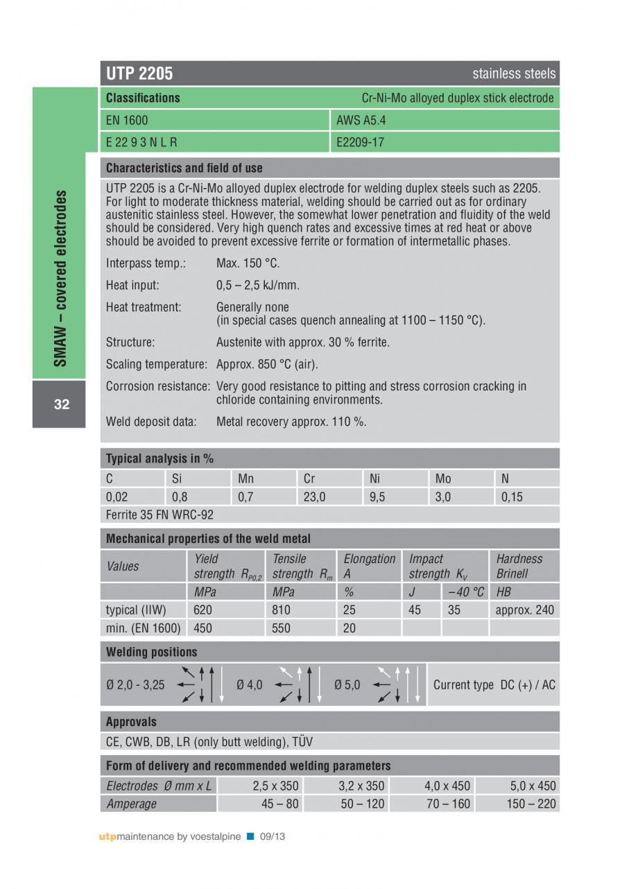 Pagina 34 - Solutii complete (materiale de adaos) pentru mentenanta si reparatii TEHNIC GAZ WELDING ...